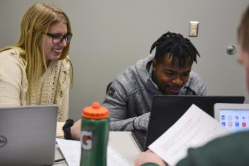 Students study in the Sook Center.