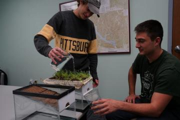 Green roof water demonstration