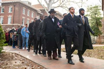 MLK Jr Silent March on the campus of College Green.