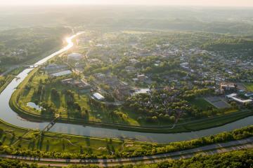 Aerial photo of Ohio University