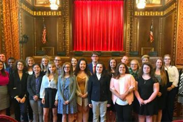 Summer Law and Trial Institute students
