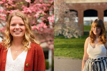 Ellen Wagner, left, and Abbey Marshall, right, will remain in Ohio to report in Youngstown and Akron, respectively.