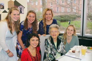 Ann Lee Konneker with Cutler Scholars
