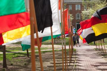 Flags on College Green