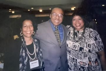 (From left) Dr. Michele Curtis Penick, BSED '66; Dr. Clarence Page, BSJ '69, HON '93; and Dr. Patricia Ackerman, BA '66, are pictured at an Ohio University Black Alumni Reunion.