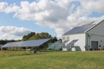 solar panels at compost facility