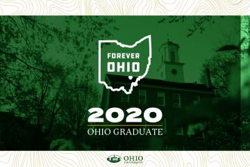 Forever OHIO and 2020 OHIO Graduate graphic with Cutler Hall background