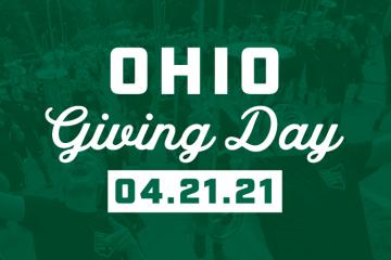 Pictured is the OHIO Giving Day 4.21.21 banner image