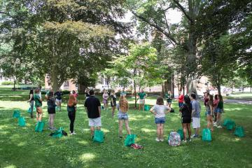 Incoming Ohio University students walk through College Green during Bobcat Student Orientation Monday, June 24, 2019
