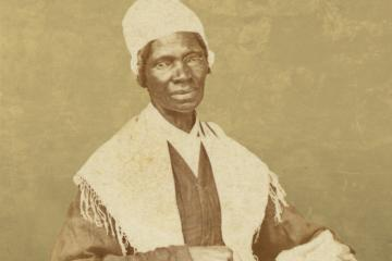 This circa 1864 photograph from the Library of Congress shows Sojourner Truth.