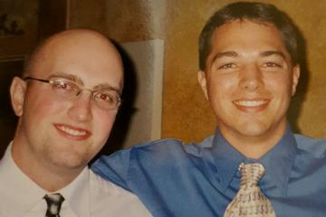 Pictured are Ohio University graduates (from left) Mike Medley, BSEE '01, and Matt Good, BSME '02.