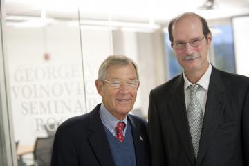 Sen. George Voinovich and Dean Mark Weinberg