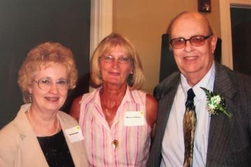 Mike Kline's wife Stephanie Kline, left, OHIO Zanesville employee Mary Lou Wilson (center) and Mike Kline at the 50th anniversary celebration for Ohio University Zanesville.