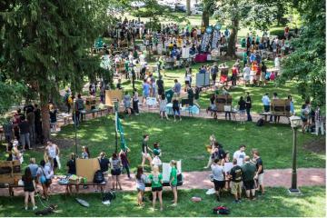 Student Involvement Fair on College Green