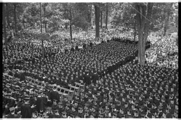 1964 Commencement on College Green